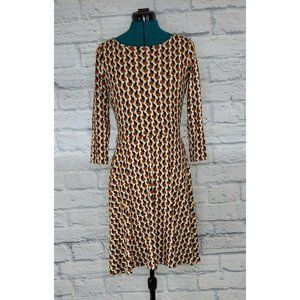 Mng Collection Multi Cat Print 3/4 Sleeve dress